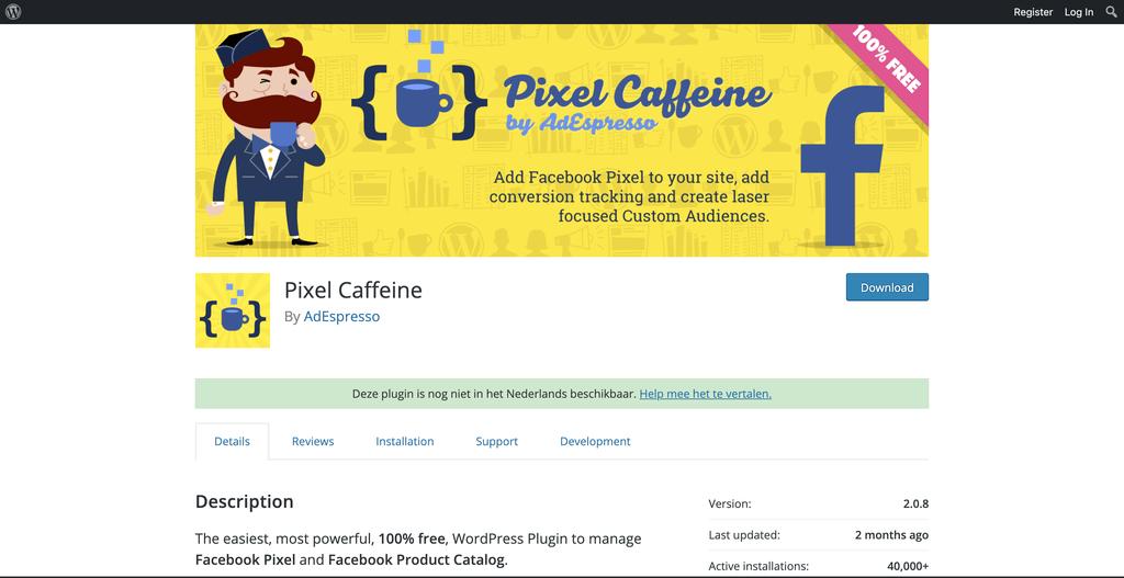 Adverteer slim in Facebook met Pixel Caffeine