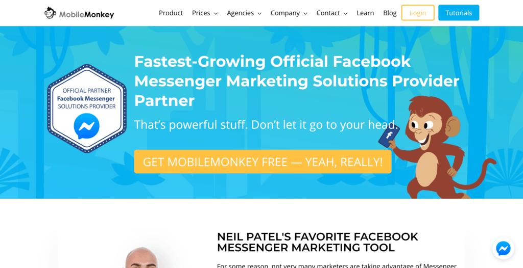 Gebruik Facebook Messenger op je website met MobileMonkey