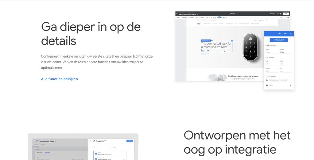 Gebruik Google Optimize om website elementen te testen