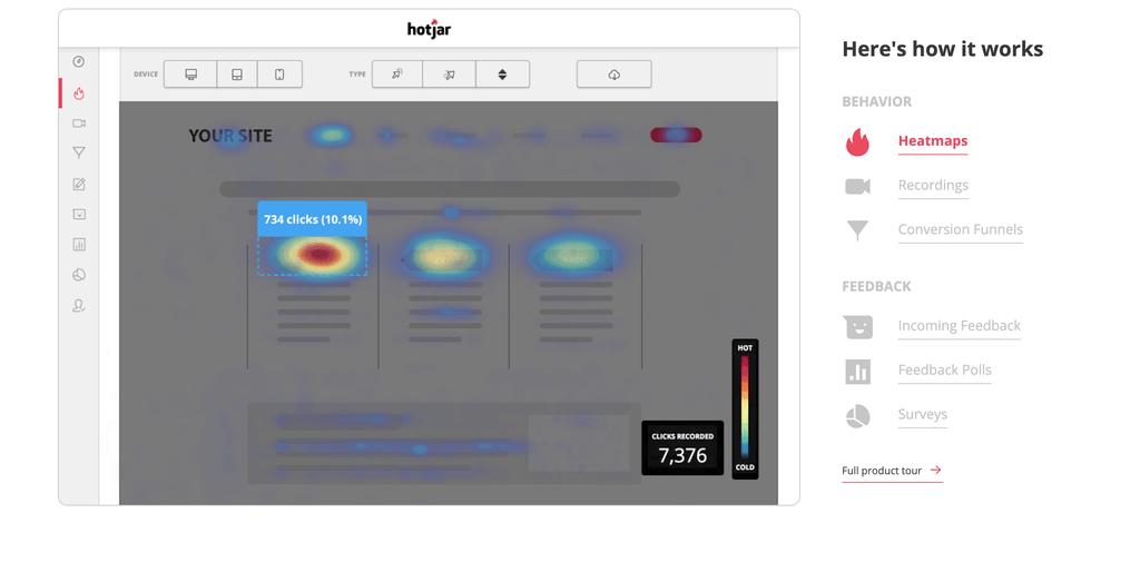 Hotjar conversie optimalisatie tool