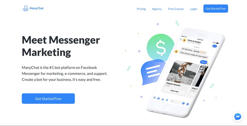 ManyChat Facebook Messenger platform Chatbot