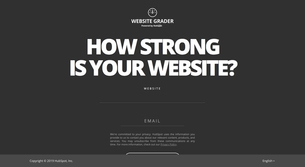 Hubspot Website Grader laat je jouw website testen