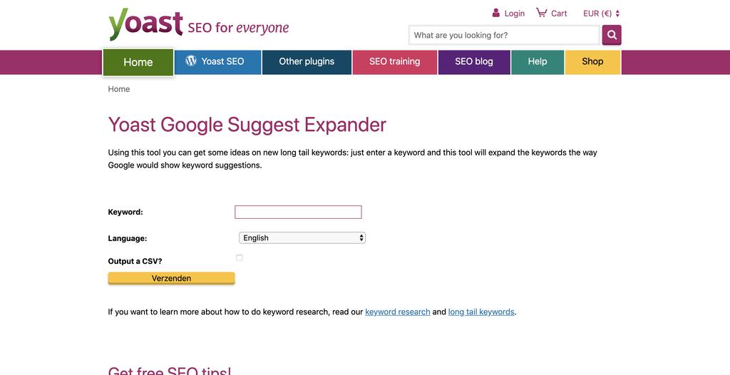 Yoast Google Suggest Expander helpt je om long-tail zoekwoorden te vinden