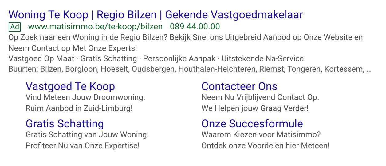 Google Ads Matisimmo Bilzen