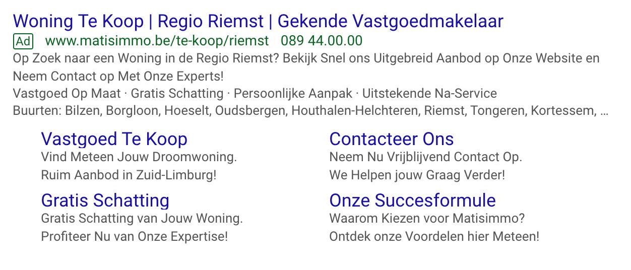 Google Ads Matisimmo Riemst