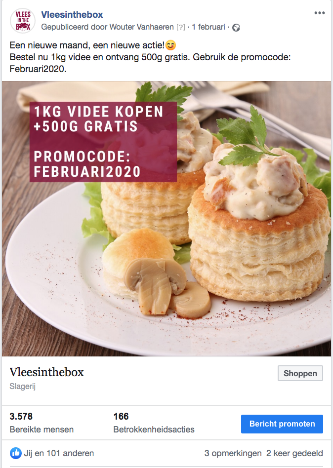 vlees in the box facebook advertentie growpirate