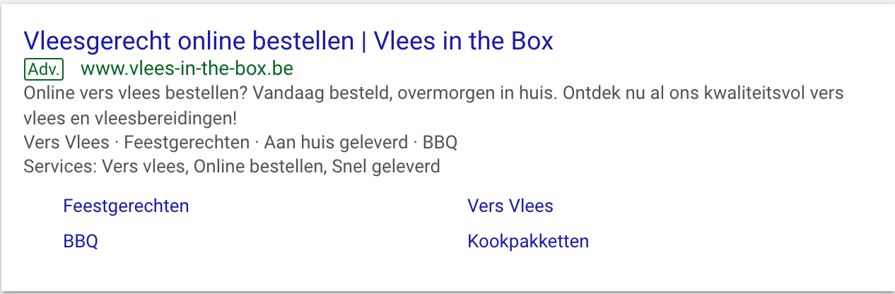 vlees in the box google advertentie growpirate